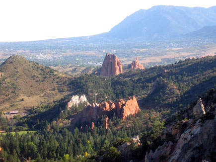 Breathtaking view of the Garden of the Gods, near Co. Springs
